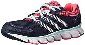 adidas Women's Powerblaze W Running Shoe, Collegiate Navy/Metallic/Silver/Neon Pink, 8 M US