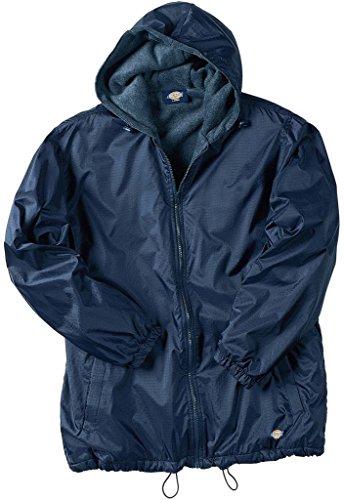 Dickies Big Men's Hooded Nylon Jacket Fleece Lined 4XL Navy
