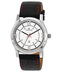 Maxima Attivo Steel Analog White Dial Mens Watch - 20892LMGI