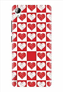 Noise Red And White Hearts Printed Cover for Karbonn Titanium Mach One Plus