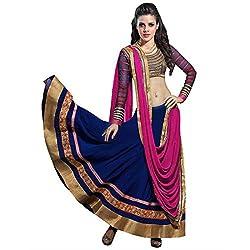 priyanka Chopra Blue pink Lehenga choli