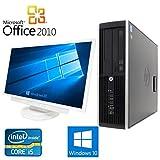 【Microsoft Office2010搭載】【Win 10搭載】【超大画面24インチ液晶セット】HP 6200 Pro/第二世代Core i5 3.1GHz/メモリ8GB/HDD1TB/DVDスーパーマルチ/中古デスクトップパソコン