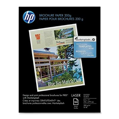 HP Laser Glossy Brochure Paper 100 Sheets 8.5 x 11 inch 200 Gram-Q6608A