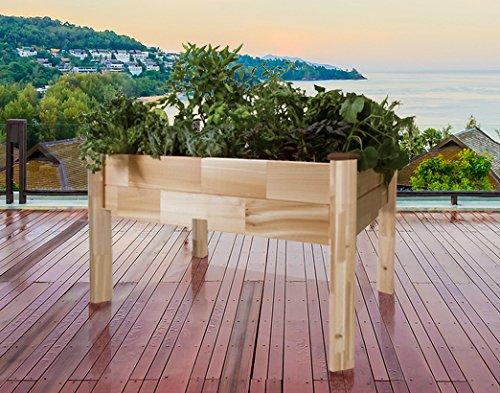 Cedarcraft Elevated Garden Planter 18 X 34 X 30 Furniture Outdoor Furniture Outdoor Beds