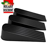 SuperiorMaker BIG Door Stop Works on All Surfaces, Keeps Door Securely Open – 3 Pack of Black…