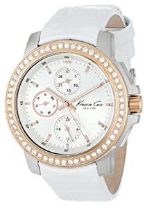 Kenneth Cole New York Women's KC2838 Stainless Steel and White Leather Watch