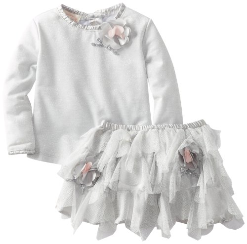 Review: Biscotti Baby-Girls Infant Spoon Top and Skirt, Silver, 24 Months  Review