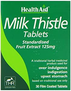 HealthAid Milk Thistle 125mg Vegan Tablets