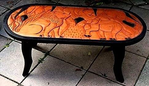 Africa Art Decoration–Tavolino africana, motivo elefante e Lion 4223-bx-159