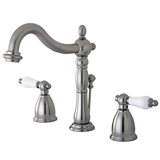 Elements of Design New Orleans EB1978PL Widespread Bathroom Faucet with Retail Pop-Up, 8-Inch to 16-Inch, Satin Nickel