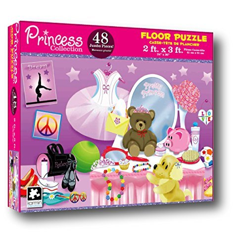 Princess Collection 48 Piece Floor Puzzle Measures 2ft x 3ft