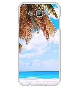 White Sand Beach 2D Hard Polycarbonate Designer Back Case Cover for Samsung Galaxy J5 (2015 Old Model) :: Samsung Galaxy J5 Duos :: Samsung Galaxy J5 J500F :: Samsung Galaxy J5 J500FN J500G J500Y J500M