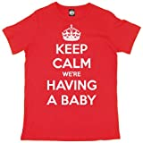 Batch1 Men's Keep Calm We're Having A Baby Pregnancy Maternity Birth T-Shirt