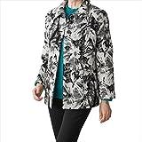 ケアファッション:ジャカード毛混ジャケット ブラック M 38999-01 ケアファッション