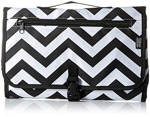 3 Bees and Me 3 Bees & Me Portable Diaper Changing Pad Station with Mat for Travel, Chevron