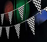 100 Ft Black White Checkered Flags Banner Pennant Car Racing Kid's Toy