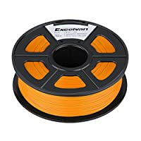 Excelvan 1.75mm PLA 3D Printer Filament - 1kg Spool (2.2 lbs) - Dimensional Accuracy +/- 0.02mm - Multi Colors Available (orange) by Excelvan