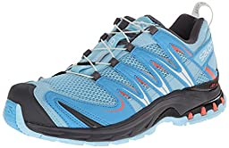 Salomon Women\'s XA Pro 3D Trail Running Shoe, Air/Blue Line/Melon Bloom, 8 M US