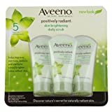 Aveeno Skin Brightening Daily Scrub 5-Ounce Tubes (Pack Of 3)