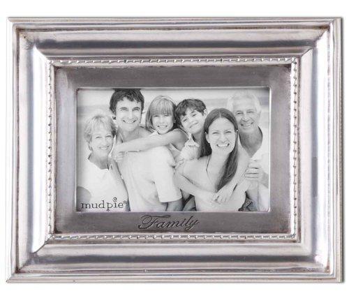 Mud Pie Family Dentil Photo Frame, 4 by 6-Inch