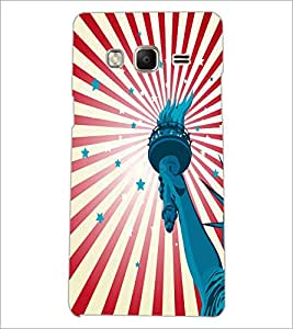 PrintDhaba Liberty Of Statue D-5582 Back Case Cover for SAMSUNG Z3 (Multi-Coloured)