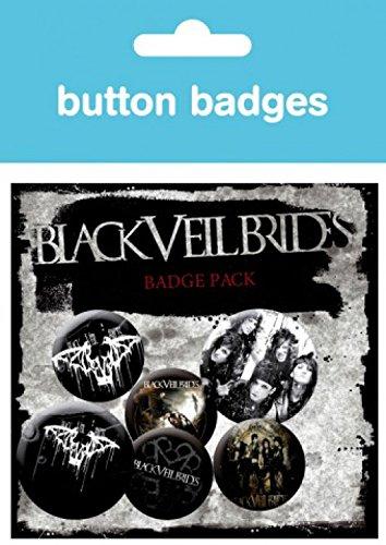 Black Veil Brides - Darkest, 4 X 25mm & 2 X 32mm Distintivi Set Di Badge (15 x 10cm)