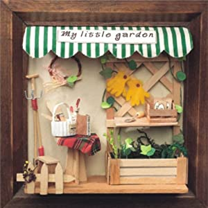miniatur 3d wandbild my little garden im bilderrahmen. Black Bedroom Furniture Sets. Home Design Ideas