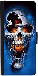 Snoogg Skull Fury Graphic Snap On Hard Back Leather + Pc Flip Cover Google Ne...