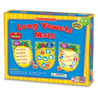 Scholastic Tf7111 - Vowels Mats Kit, Long Vowels, Bees, Grades K-2-Shstf7111 back-943608
