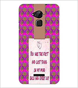 PrintDhaba Quote D-4947 Back Case Cover for COOLPAD NOTE 3 LITE (Multi-Coloured)