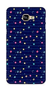 Amez designer printed 3d premium high quality back case cover for Samsung Galaxy A9 (star spiral blue )