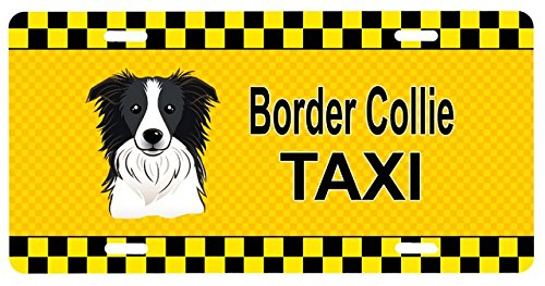 Carolines Treasures BB1365LP Border Collie Taxi License Plate (Dog Taxi License Plate compare prices)