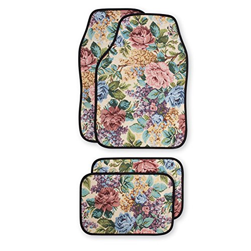 floral-front-rear-car-floor-mats-set-of-4-flower