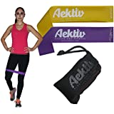 Exercise Resistance Loop Bands - Set of 5 Best Strength Performance Workout Bands Good for Physical Therapy-Fitness Theraband Stretch