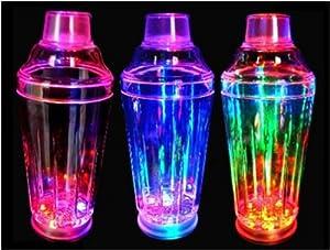 19oz LED Light up Flashing Blink Multicolor Cocktail Drink Shaker Cup Bar Party