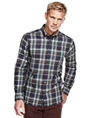 Blue Harbour Pure Cotton Multi Checked Oxford Shirt