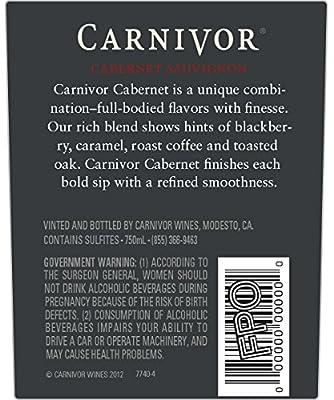2013 Carnivor California Cabernet Sauvignon 750mL
