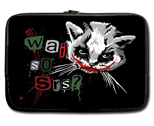 "Special Joker Cat Why So Serious Image Made for One side 13""-13.3"" Sleeve Bag Fits most Laptop and Macbook"