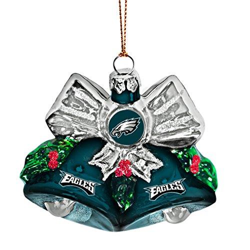 NFL Philadelphia Eagles Glitter Bells Ornament