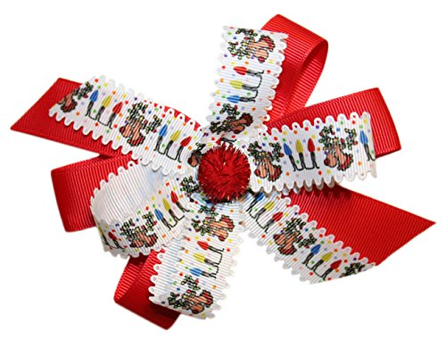 Webb Direct 2U Girls Rudolph Red Nose Reindeer Christmas Holiday Hair Bow 8014Fc front-587451