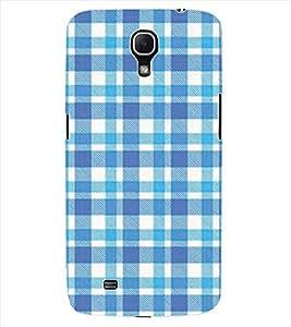 ColourCraft Blue Check Pattern Back Case Cover for SAMSUNG GALAXY MEGA 6.3 I9200