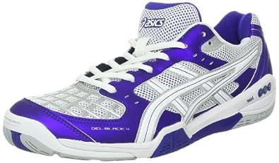 ASICS Women's Gel-Blade 4 Shoe,Purple/White/Lightning,5 M US