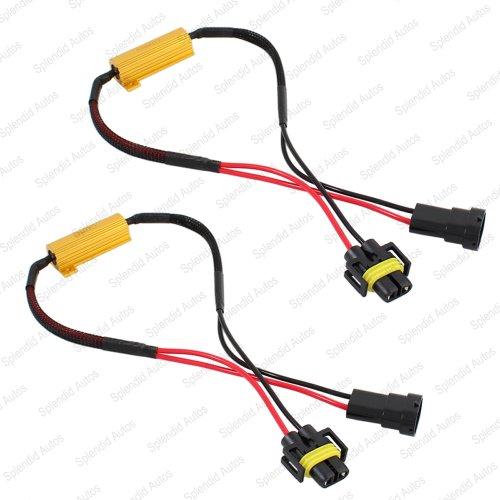 Splendid Autos H8 H9 H11 Plug-N-Play Error Free Decoder Wiring Kit For Led Bulbs For Fog Light
