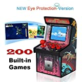 Retro Mini Arcade Game Machines for kids with 200 Classic Handheld Video Games home Travel Portable Gaming System Childrens Tiny Toys Novelty Electronics for Boys-Eye Protection NEW VERSION