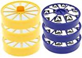 First4spares Washable Pre Motor Top Filters and Post Motor Allergy HEPA Filters for Dyson DC04 Vacuum Cleaners (3 of Each)