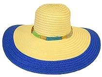 New Ladies Straw Hat / Wide Brim / Blue