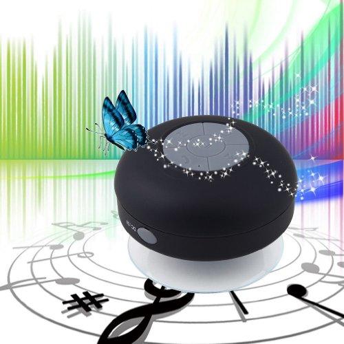 Tpcromeer Waterproof Bluetooth Stereo Speakers Portable Speaker Speakerphone For Showers, Bathroom, Pool, Boat, Car, Beach, Outdoor Etc. For All Smartphones, Ipad, Apple Iphone, Android - Black