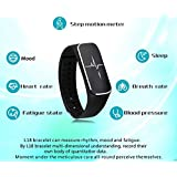 ITontek 37 Degree Bluetooth Smart Bracelet Wristband Sync Fitness Tracker Heart Rate Blood Pressure Emotional...