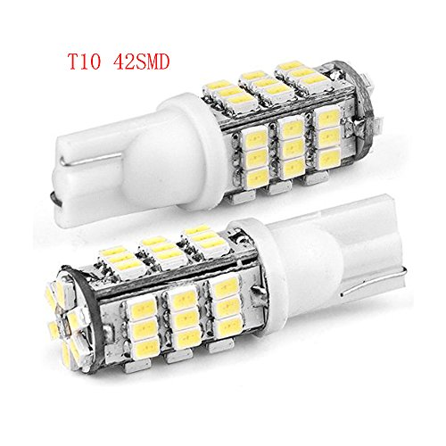 Hamist T10 3528 42-Smd Led Car Lights Bulb 194 168- White (Pack Of 4)