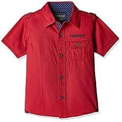 Cherokee Boys' Shirt (267232011_Dk-Red_07Y)